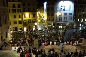 View from the top of Spanish Steps
